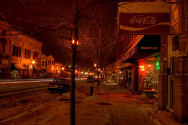 Photograph - Small Town Christmas by David Dufresne