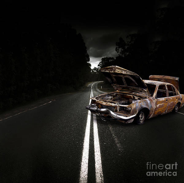 Wall Art - Photograph - Smashed Up Car Wreck by Jorgo Photography - Wall Art Gallery