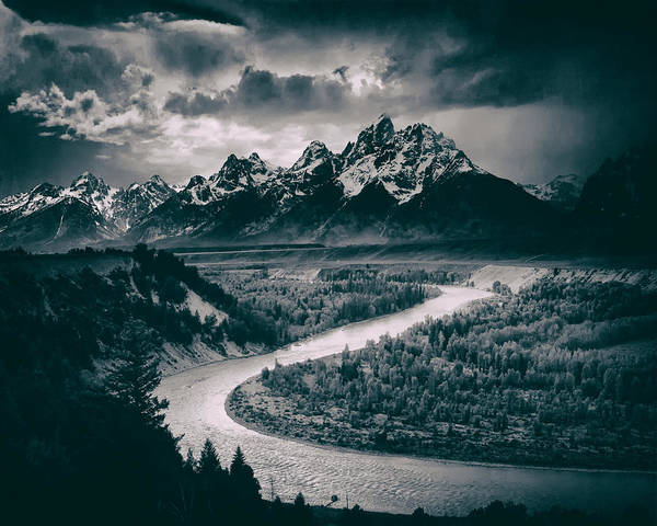 Wall Art - Photograph - Snake River In The Tetons - 1930s by Mountain Dreams