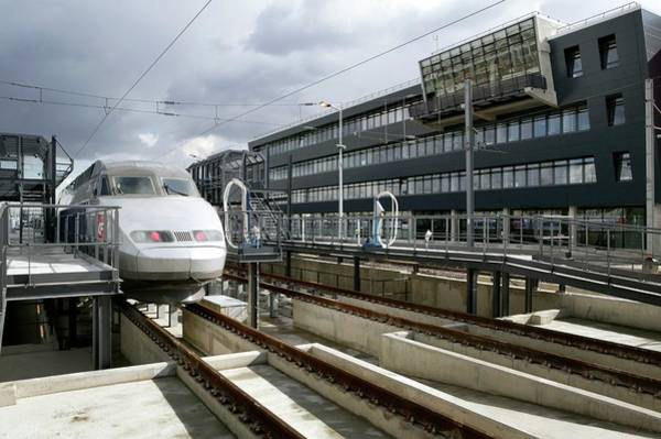 Depot Photograph - Sncf Maintenance Depot by Christophe Vander Eecken /reporters/science Photo Library