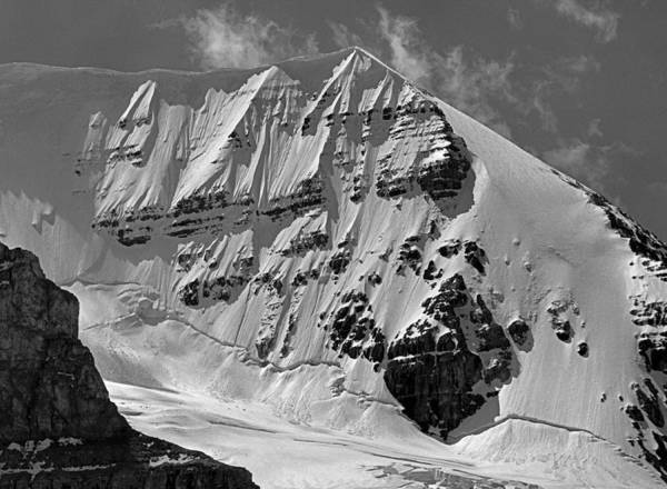 Photograph - 103779-bw-er-snow Flutes On Mt. Andromeda by Ed  Cooper Photography