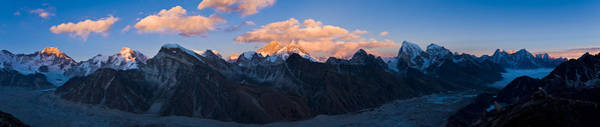 Wall Art - Photograph - Snowcapped Mountain Peaks, Mt Everest by Panoramic Images