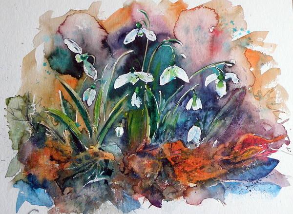 Snowdrops Wall Art - Painting - Snowdrops by Kovacs Anna Brigitta
