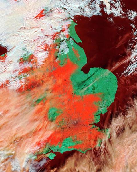 Southeastern Photograph - Snowfall In Southeastern England by Nasa/science Photo Library