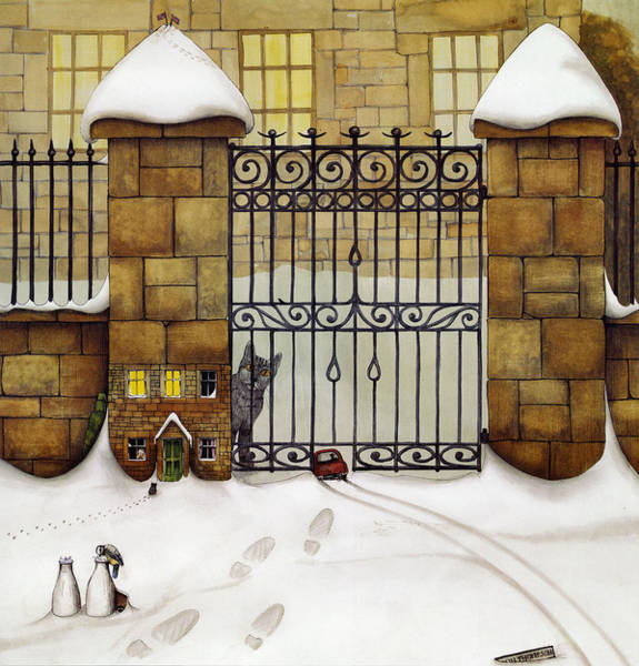 Wall Art - Painting - Snowgate by MGL Meiklejohn Graphics Licensing