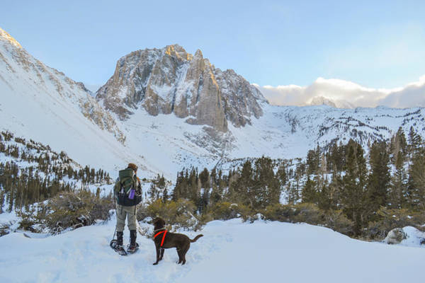 Sierra Nevada Photograph - Snowshoeing To Temple Crag With Mans by Taylor Reilly