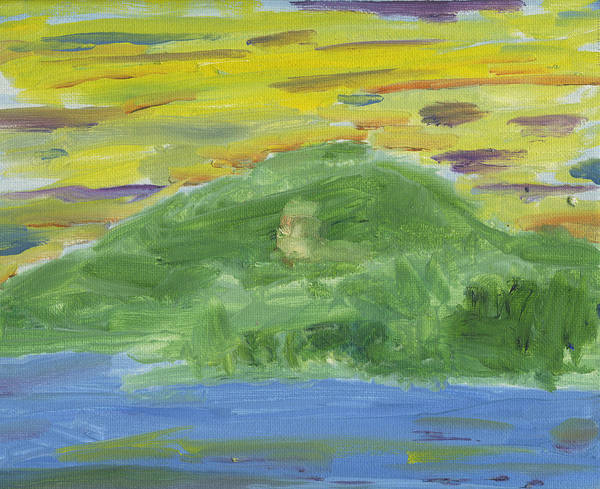 Adirondack Mountains Painting - Snowy Mt. From Indian Lake by Dan  Orapello