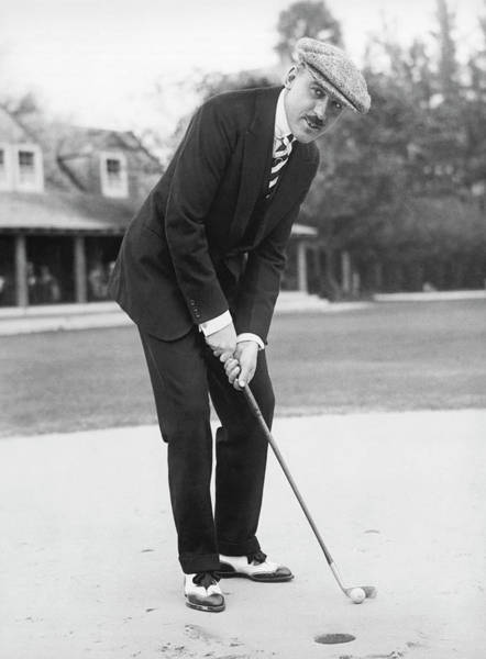 Photograph - Society Golfing In Palm Beach by Underwood Archives