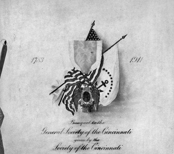 Fraternal Organizations Photograph - Society Of The Cincinnati by Granger