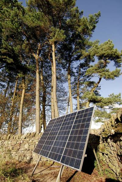 Solar Panels Photograph - Solar Panels by Simon Fraser/science Photo Library