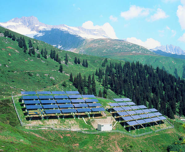 Wall Art - Photograph - Solar Power Plant In The Alps by Martin Bond/science Photo Library