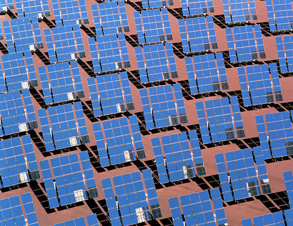 Wall Art - Photograph - Solar Reflectors At Albuquerque by John Mead/science Photo Library