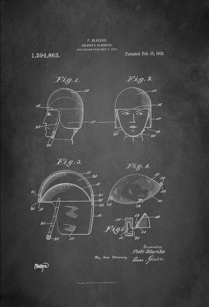 Wall Art - Digital Art - Soldier's Headwear Patent 1919 by Patricia Lintner