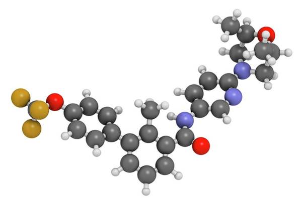 Molecular Wall Art - Photograph - Sonidegib Cancer Drug Molecule by Molekuul/science Photo Library