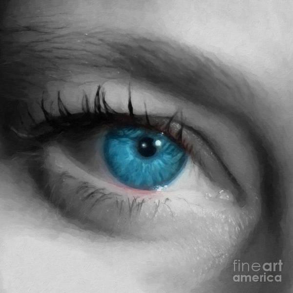 Eyeball Digital Art - Sophie Staring by Antony McAulay