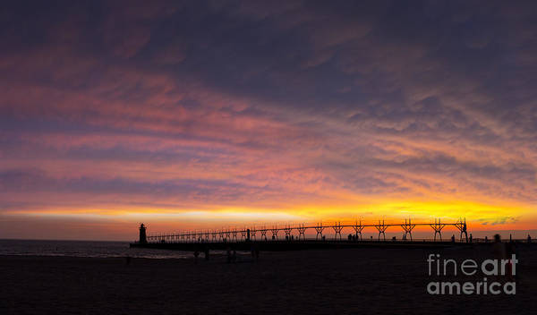 South Haven Wall Art - Photograph - South Haven Sunset by Twenty Two North Photography