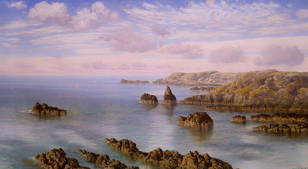 Outcrop Painting - Southern Coast Of Guernsey  by Mountain Dreams