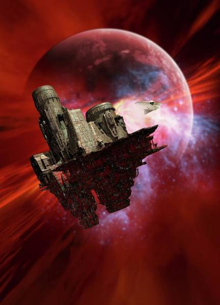 Space Exploration Digital Art - Space Mining Colony, Artwork by Victor Habbick Visions