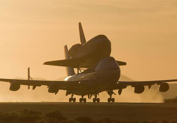Wall Art - Photograph - Space Shuttle Transport Flight by Nasa/science Photo Library