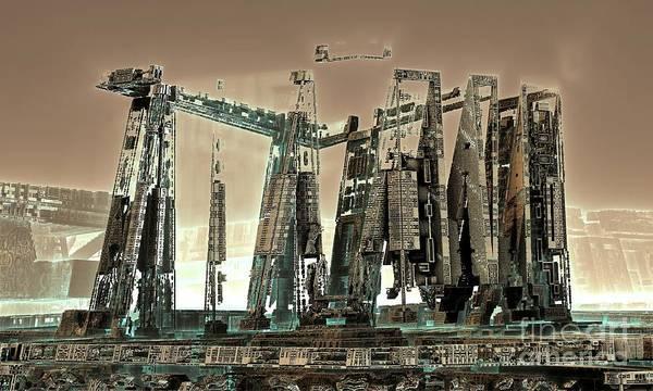 Digital Art - Spaceport by Bernard MICHEL