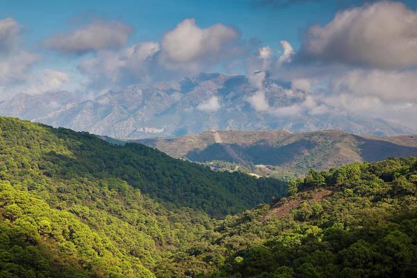 Elevation Photograph - Spain, Andalucia Region, Malaga by Walter Bibikow