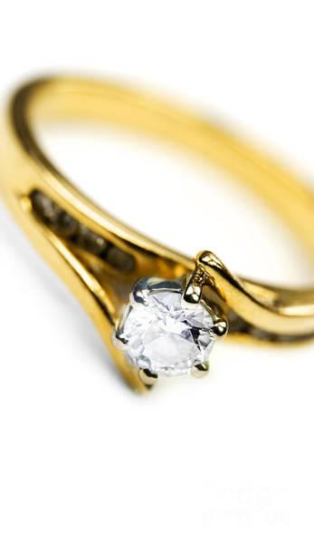 Sparkling Diamond Engagement Ring Art Print