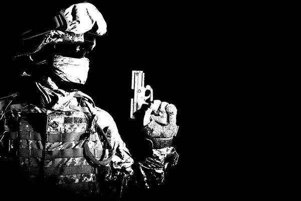 Infantryman Wall Art - Photograph - Special Forces Soldier With Service by Oleg Zabielin
