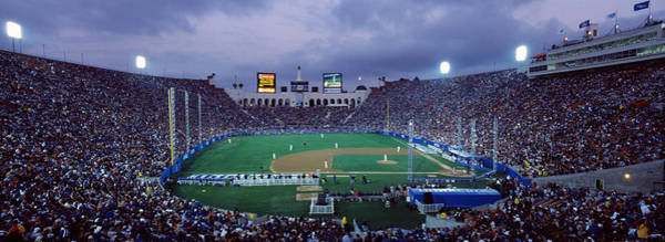 Coliseum Photograph - Spectators Watching Baseball Match, Los by Panoramic Images