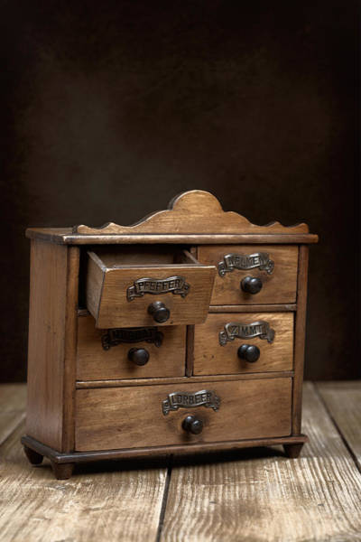 Cabinet Photograph - Spice Cabinet by Amanda Elwell