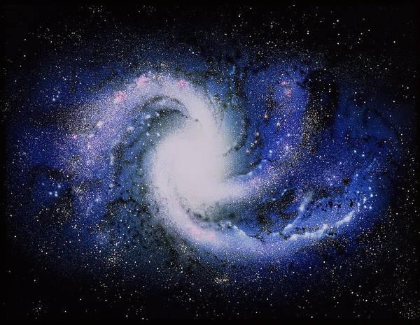 Photograph - Spiral Galaxy by Chris Bjornberg