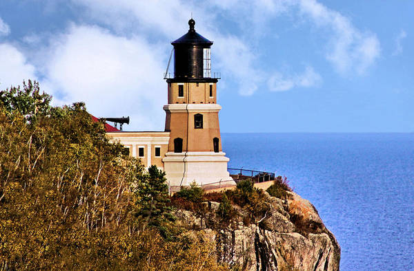 Foghorns Photograph - Split Rock Lighthouse by Kristin Elmquist