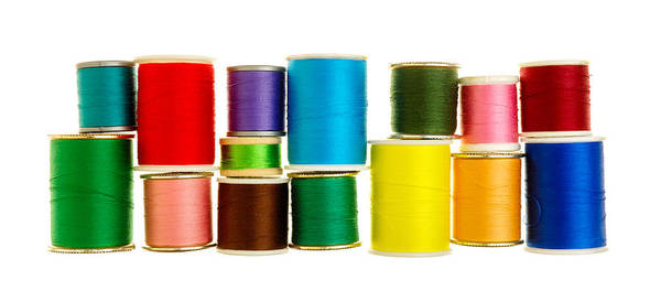 Photograph - Spools Of Thread by Jim Hughes