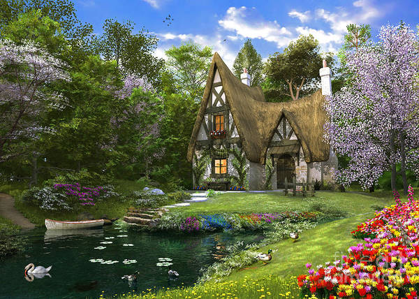 Wall Art - Digital Art - Spring Lake Cottage by Dominic Davison
