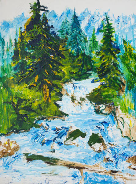 Painting - Spring Run-off by Walt Brodis