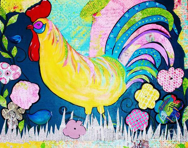 Painting - Springtime Rooster by Melinda Etzold
