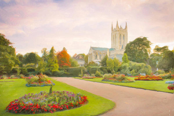 English Garden Photograph - St Edmundsbury Cathedral by Tom Gowanlock