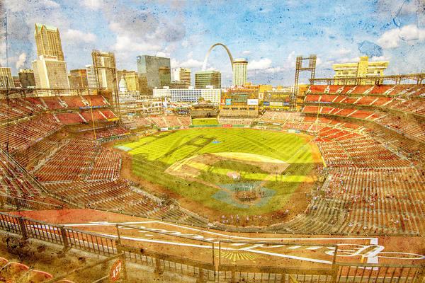 Photograph - St. Louis Cardinals Busch Stadium Texture 9252 by David Haskett II