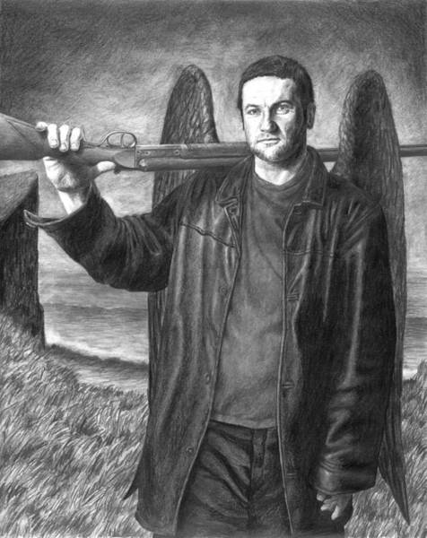 Rifle Drawing - St. Michael by Mark Zelmer