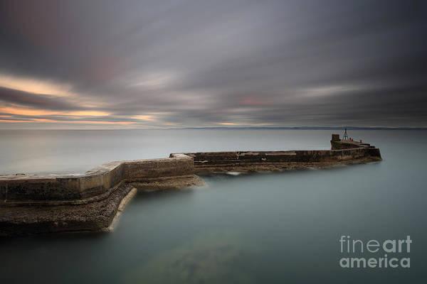 Photograph - St Monans Pier At Sunset by Maria Gaellman