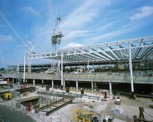 Wall Art - Photograph - St Pancras Construction Site by Adam Hart-davis/science Photo Library