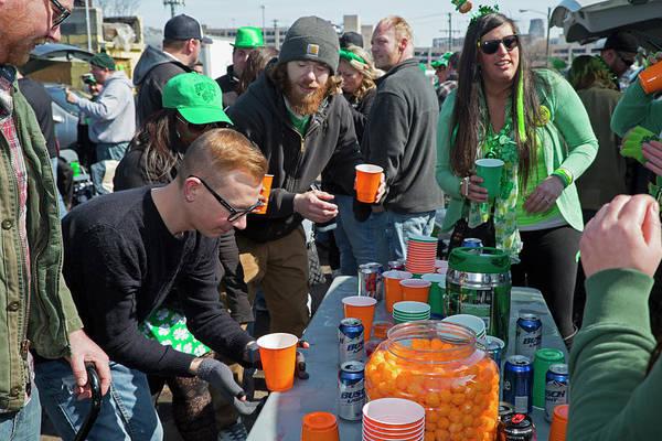 Bottle Green Photograph - St. Patrick's Day Celebrations by Jim West