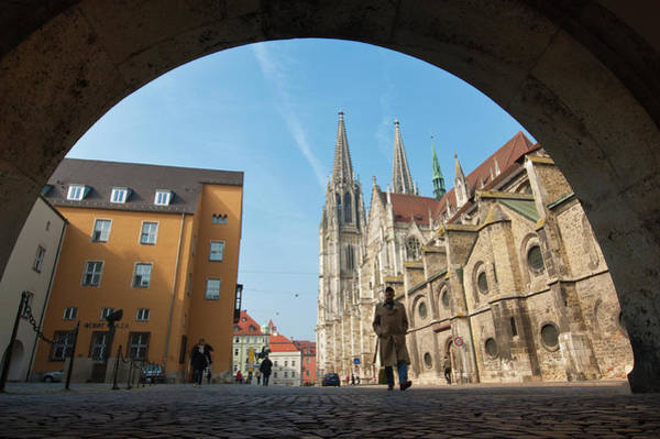 St Michaels Church Photograph - St Peter's Cathedral In Regensburg by Michael Defreitas