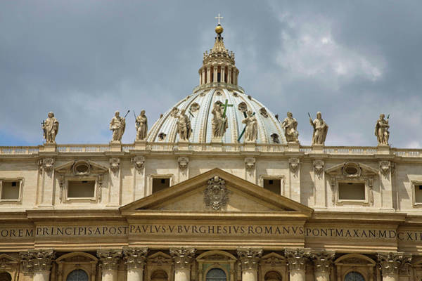 Period Photograph - St Peters Square And St Peters Basilica by Panoramic Images