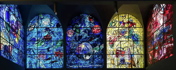 Wall Art - Photograph - Stained Glass Chagall Windows by Panoramic Images