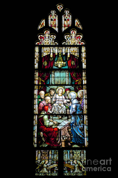Photograph - Stained Glass Window In St Marys Church Annapolis Md by Mark Dodd