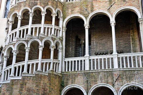 Wall Art - Photograph - Staircase At Palazzo Contarini Del Bovolo by Sami Sarkis