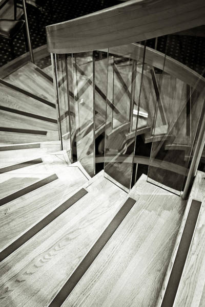 Bannister Wall Art - Photograph - Staircase by Tom Gowanlock