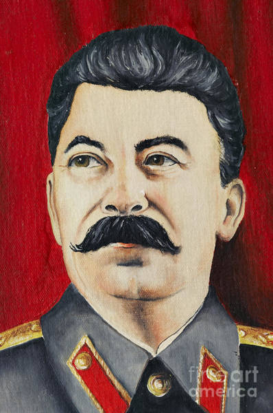 Communist Painting - Stalin by Michal Boubin