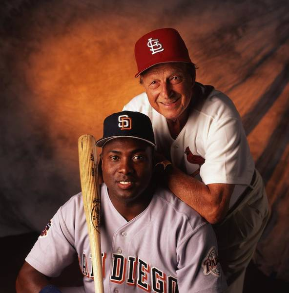 Baseball Hall Of Fame Photograph - Stan Musial And Tony Gwynn by Retro Images Archive