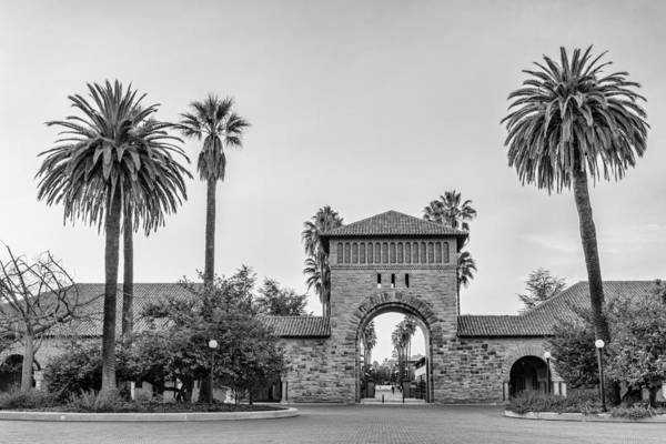 Photograph - Stanford University Arched Entrance To The Main Quad by Priya Ghose